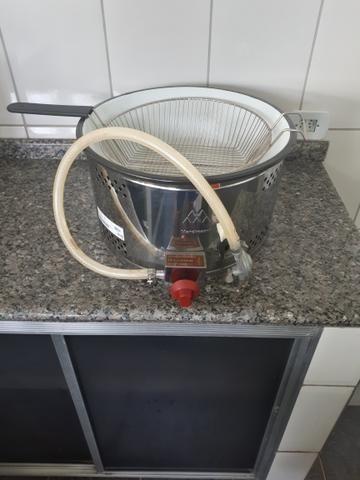 Fritadeira à Gás de aço inoxidável Semi Nova - Foto 4