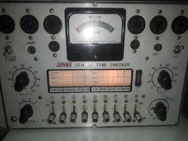 Testador de Valvulas de Radio e TV