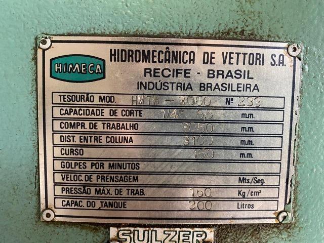 Guilhotina para metal Himeca HMTH 3050 x 6,5 mm - Foto 3