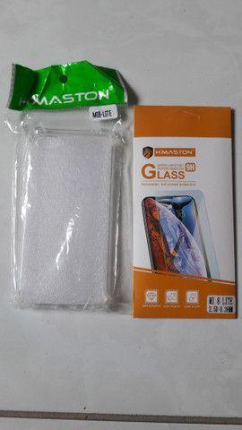 Capinha de silicone Xiaomi MI8 Lite + película de vidro - Novo - Foto 3