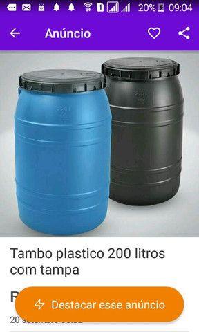 Tambo 200 litros com tampa