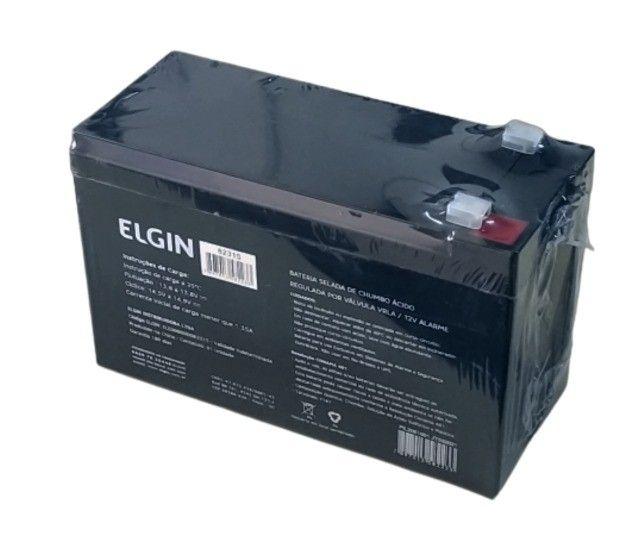 Bateria Selada de Chumbo Válvula VRLA 12v 7A Alarme - Elgin - Foto 4