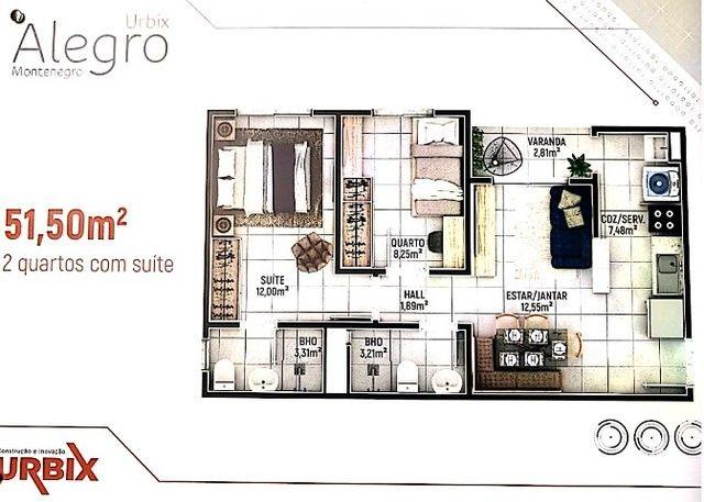 Alegro Montenegro, 2 e 3 quartos, com Automação - Foto 2