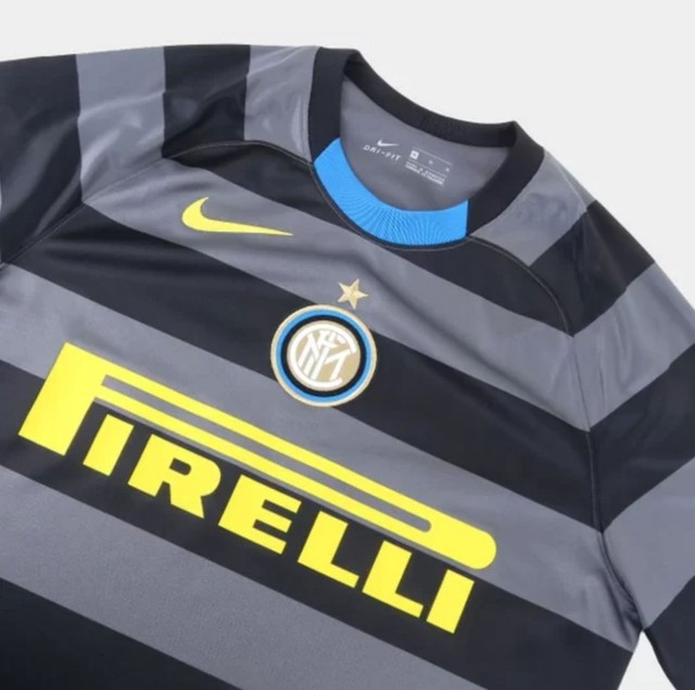 Camisa Inter de Milão Third 20/21 s/n° Torcedor Nike Masculina - Cinza+Amarelo - Foto 6