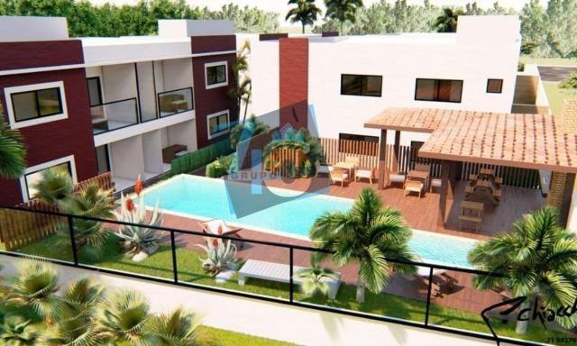 Apartamento com 3 dormitórios à venda, 89 m² por R$ 370.000 - Taperapuã - Porto Seguro/BA