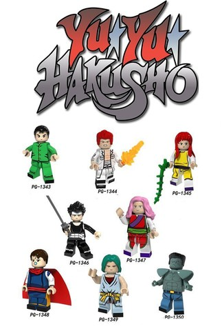 "Lote 8 Personagens Yu Yu Hakusho R$78,00 ""Compatível com Lego"