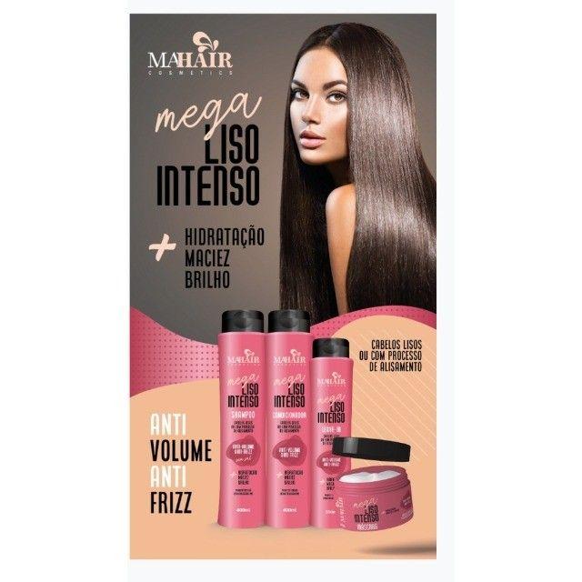 Mega Liso Intenso Kit Completo 4 Produtos - Foto 2
