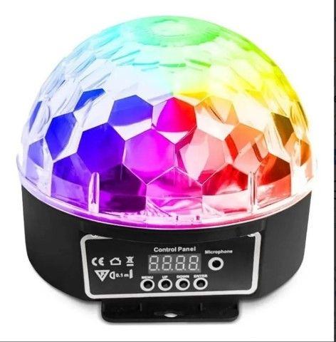 Globo Colorido para Festa Com Bluetooth Acompanha Pendrive Gravado e Controle Remoto