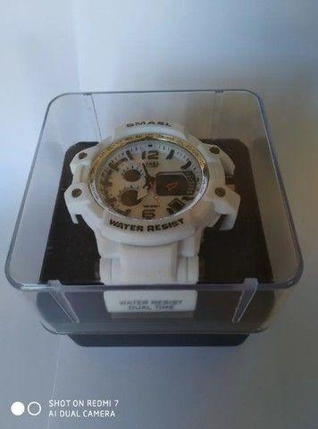 Relógio Militar Smael S Shock Branco 1509 a prova da água C/ Caixa - Foto 6