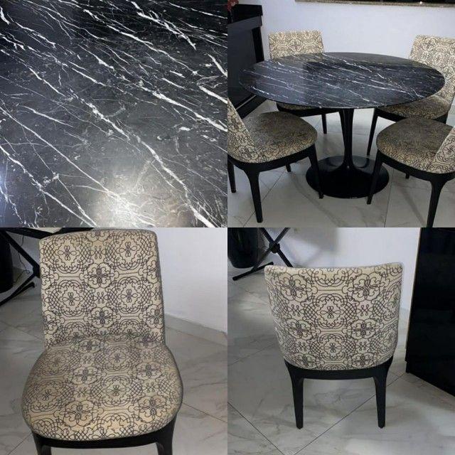 Mesa redondo com 4 cadeiras  - Foto 2