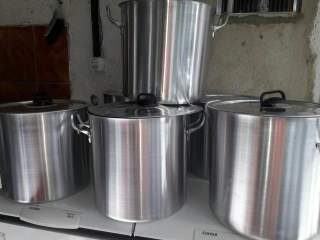 Caldeirão de 40 litros de aluminio grosso