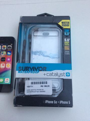 IPhone 5 s 16gb + capa a prova d?água e queda - Foto 4