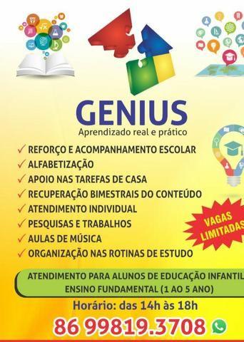 Acompanhamento Escolar Genius!!