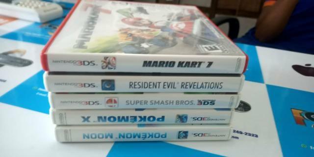 Nintendo 3ds com 5 jogos valor negociável - Foto 4