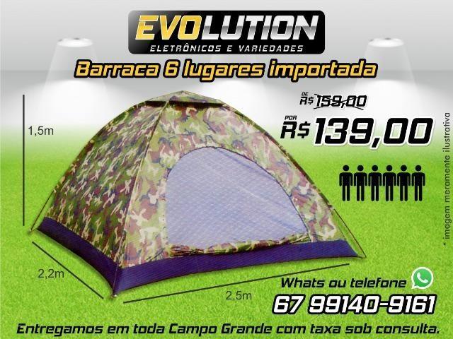 Barraca 6 pessoas importada Promoção de 159 por 139