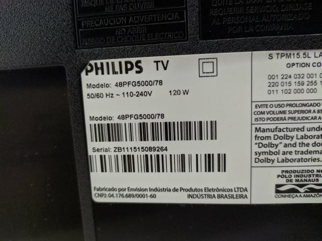 TV LED 48 Full HD Com tela trincada - Foto 5