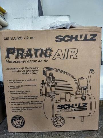Compressor 2HP 120 Libras 25 Litros - Schulz - Foto 2