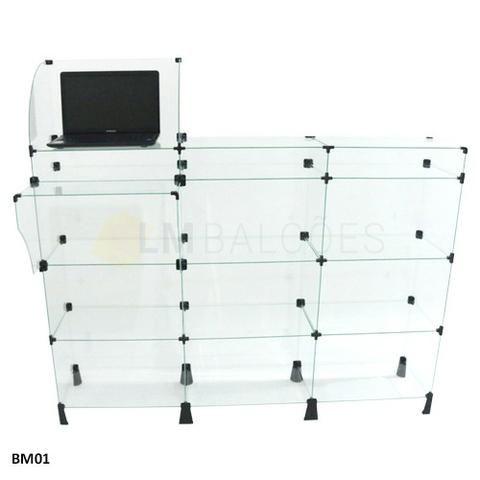 Balcao Caixa de Vidro 1,50 x 1,10 x0 ,30 Frete e Montagem gratis - Foto 2