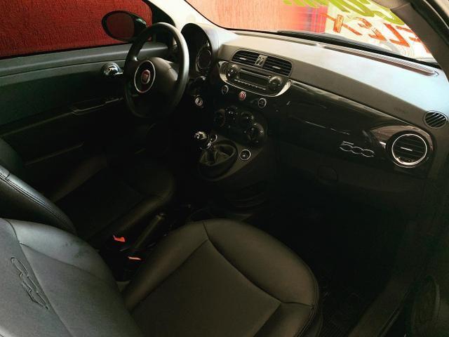 (Júnior Veículos) Fiat 500 1.4 Ano:2012 Completo - Foto 8