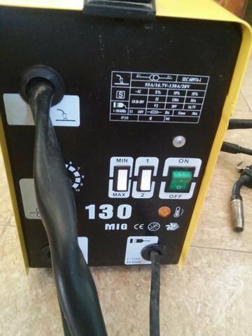 Máquina de solda Miga/Mag Sem Gás 110v