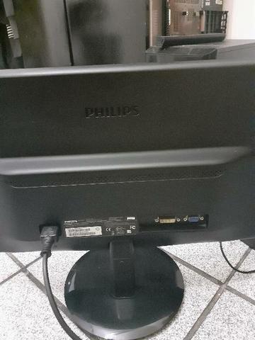 Monitor LCD Phiplips LED 18.5 VGA E DVI - Foto 3