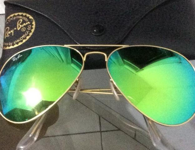 Ray-Ban Verde Espelhado (Óculos de Sol) - Bijouterias, relógios e ... 06aefaf002