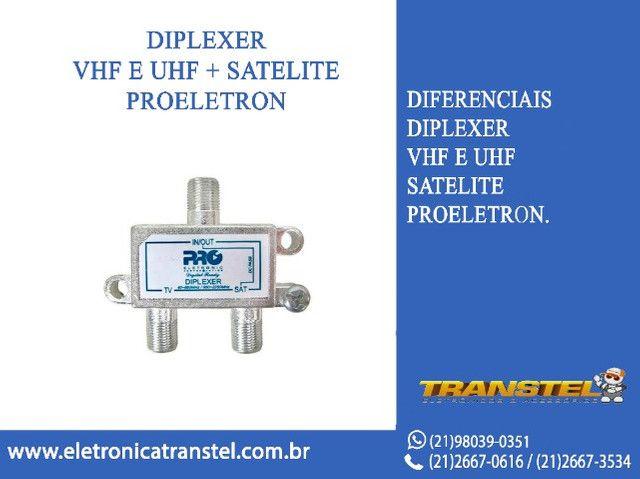 Diplexer Vhf E Uhf + Satélite Pqdi-6500b