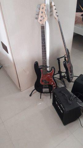 Contra Baixo Strinberg Passivo 4C CAB-16 + amplificador impact bass CB60