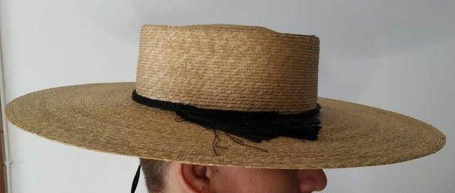 Chapéu chileno com estojo- Sombrero Chupalla - Foto 3