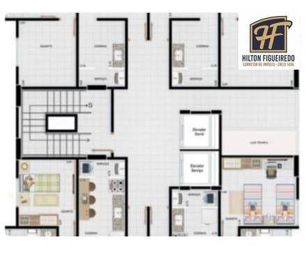 Apartamento com 2 dormitórios à venda, 59 m² por R$ 215.000,00 - Bairro dos Estados - João