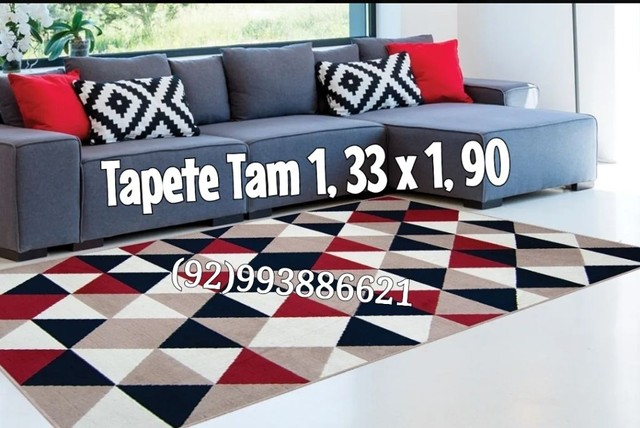 TAPETES Geométrico Tam 1, 33 x 1, 90 - Foto 2