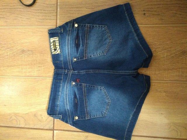 Bermuda fem jeans tamanho 40 - Foto 3