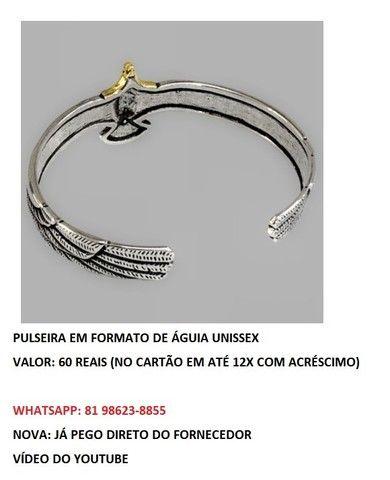 pulseira em formato de águia unissex  - Foto 3