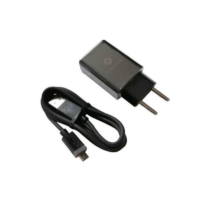 carregador turbo rapido com cabo micro v8 e tipo c  power 30 - Foto 3