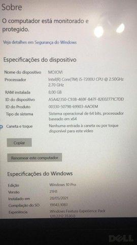 Noobot Dell Intel i5 7200  8GB ram  com bateria aguentando pouca carga