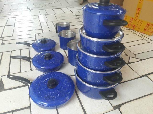 Jogo de panelas frigideiras leiteira e panela de pressão - Foto 4