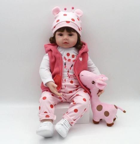 Boneca Bebê Reborn Dolls 47cm - Entrega Grátis - Foto 4