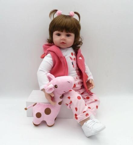 Boneca Bebê Reborn Dolls 47cm - Entrega Grátis - Foto 2