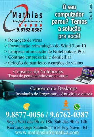 Conserto e Manutenção de Computadores e Notebooks - Foto 2