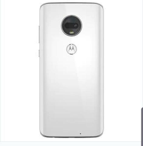 Moto g7 Plus branco, novo completo hoje carregador película de vidro