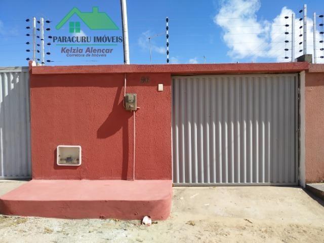 Casa de dois quartos nas Carlotas em Paracuru