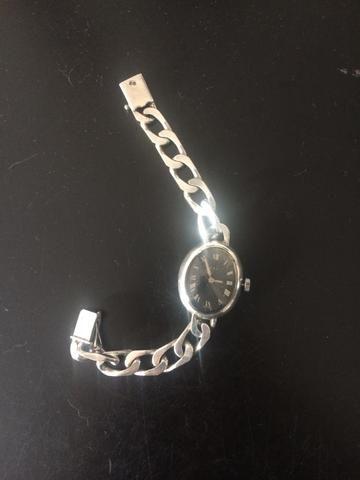 Relógio de prata feminino