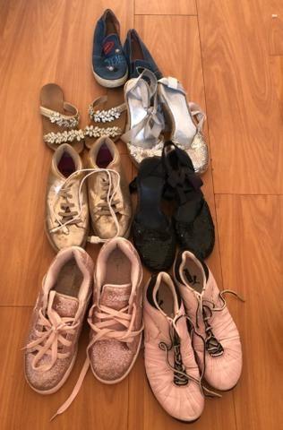 7 pares de sapato tam 37 por 180 reais