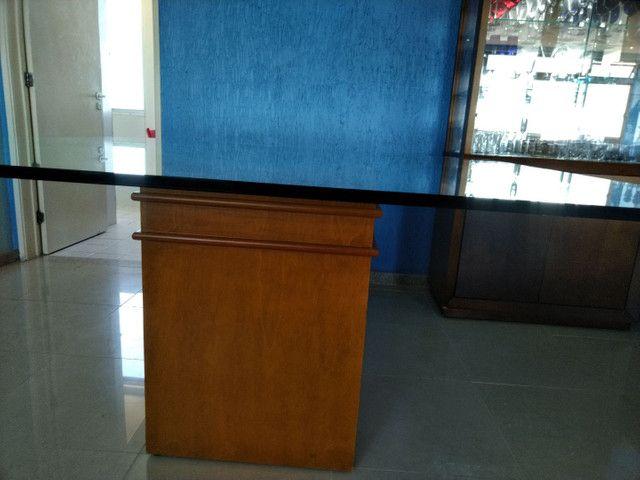 Mesa quadrada tampo de vidro 1,50 X 1,50  espessura do vidro 10 mm