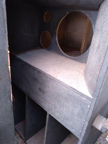 02 caixa de madeira de som - Foto 5