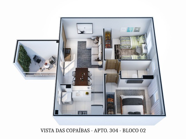 LP/ Use seu FGTS e conquiste seu Apê no Residencial Vista das Copaíbas - Foto 4