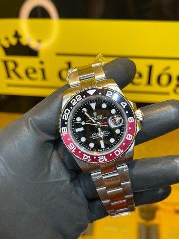 Rolex 40mm preto com vermelho novo