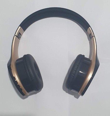Fone De Ouvido Sem Fio Bluetooth Headphone Estéreo Inova - Foto 5