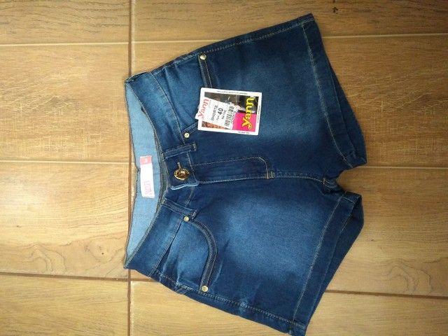 Bermuda fem jeans tamanho 40 - Foto 2