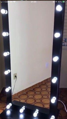 Espelho Camarim Grande Preto 1,80x0,80 - Foto 3